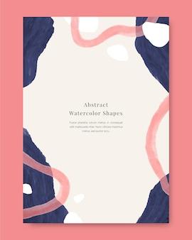 Aquarell design formen abdeckung set