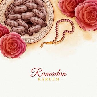 Aquarell design ramadan kareem
