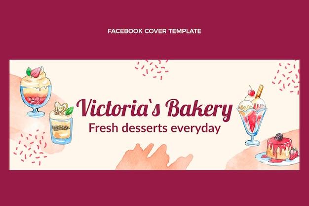 Aquarell dessert facebook-cover