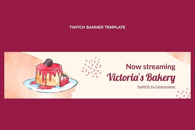 Aquarell dessert-twitch-banner