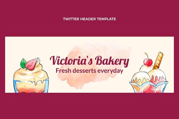 Aquarell dessert twitter-header