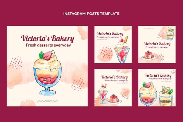 Aquarell desserts instagram beiträge