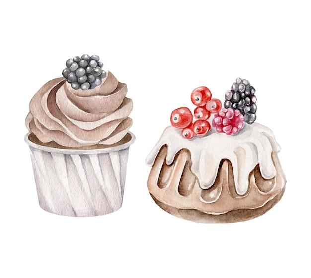 Aquarell desserts