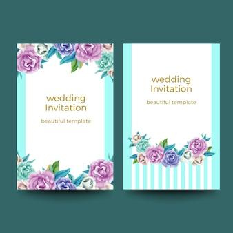 Aquarell einladungskarten-designs