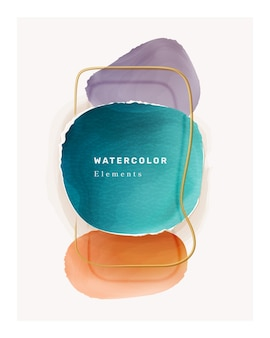 Aquarell-element-farbpinsel-kleckse-poster-design
