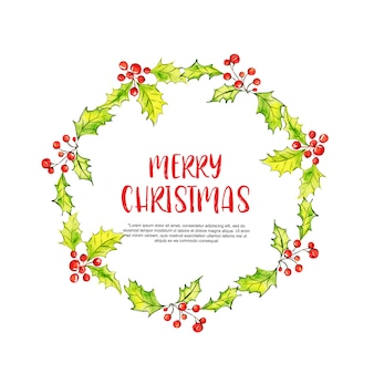 Aquarell-elemente weihnachtsrahmen