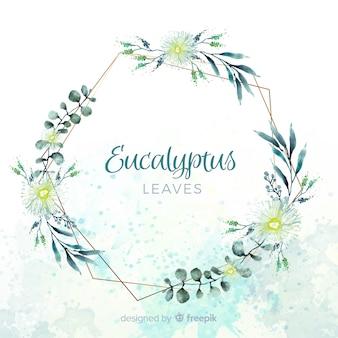 Aquarell eukalyptusblätter