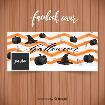 Aquarell-facebook-banner mit halloween-konzept