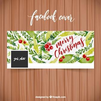 Aquarell facebook cover mit weihnachtsblumen