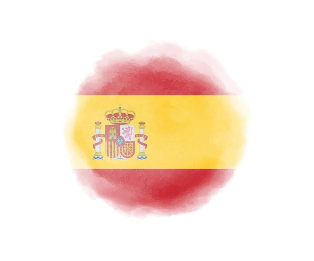 Aquarell flagge von spanien