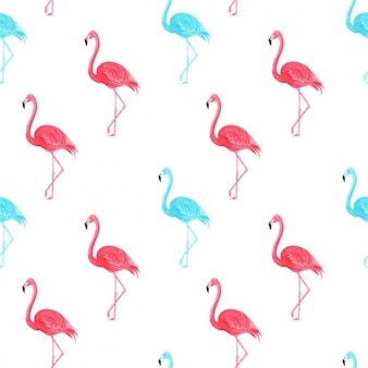 Aquarell flamingos muster