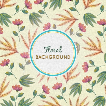 Aquarell floral background mit rahmen