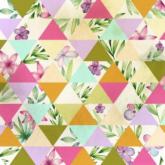 Aquarell floral geometrisch