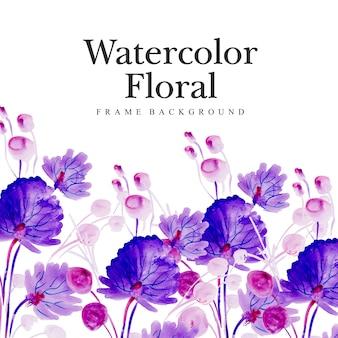 Aquarell floral mehrzweckhintergrund