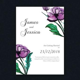 Aquarell Floral Vintage Hochzeit Einladungskarte
