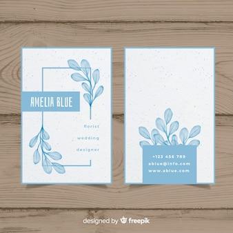 Aquarell floral visitenkarte vorlage