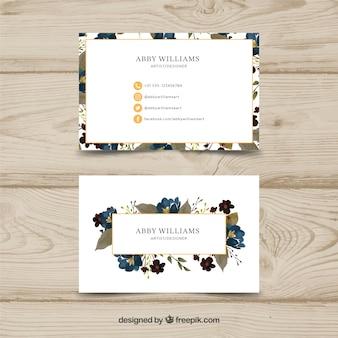 Aquarell floral visitenkartenvorlage