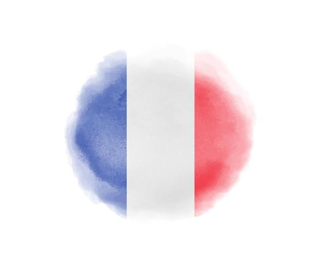 Aquarell frankreich flagge