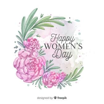 Aquarell Frauentag Hintergrund