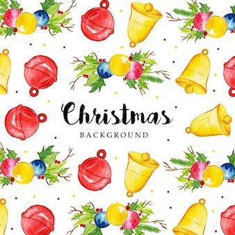 Aquarell frohe weihnachten muster hintergrund