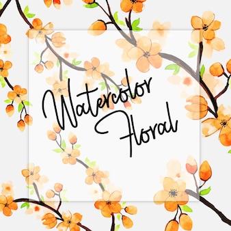 Aquarell frühling floral mehrzweck hintergrund