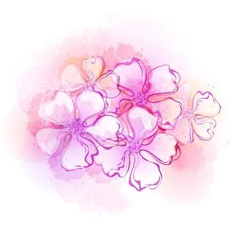 Aquarell-frühlingsblumenhintergrund. illustration