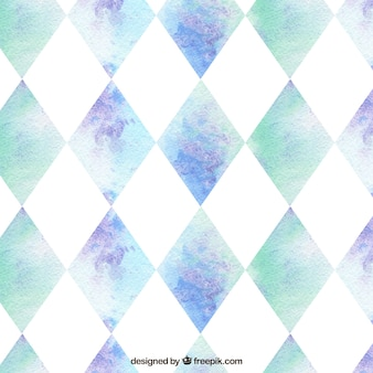 Aquarell geometrisches muster
