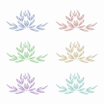 Aquarell gepresste blumenblätter set design
