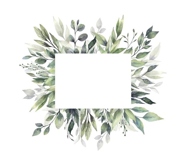 Aquarell grün rahmen