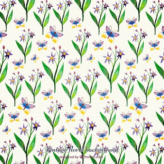 Aquarell grünen blättern floralen hintergrund