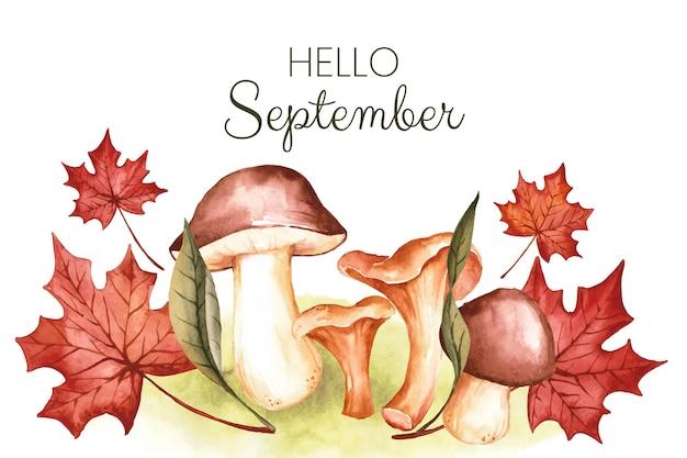 Aquarell hallo september hintergrund