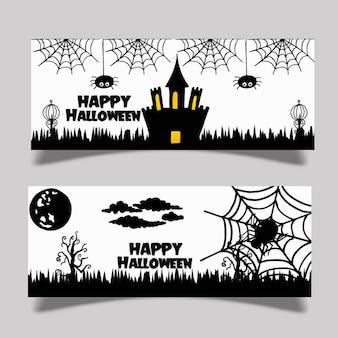 Aquarell halloween banner design