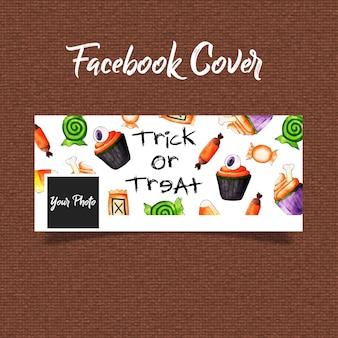 Aquarell halloween facebook cover
