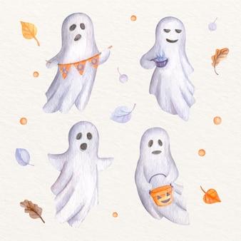 Aquarell halloween geister illustration
