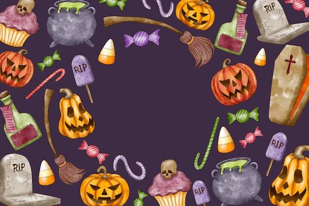 Aquarell halloween hintergrund