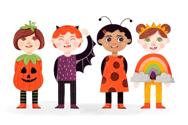 Aquarell halloween kinderkollektion
