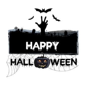 Aquarell halloween logoentwürfe