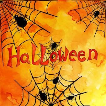 Aquarell halloween muster hintergrund