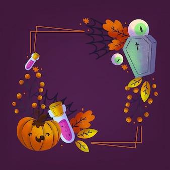 Aquarell halloween rahmenschablone