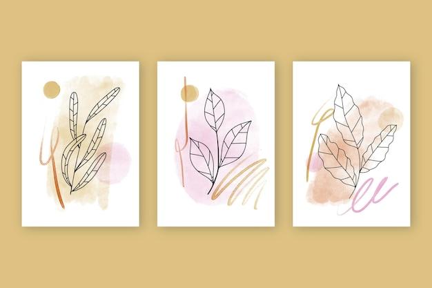 Aquarell handgezeichnete cover Kostenlosen Vektoren