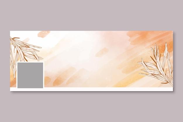 Aquarell handgezeichnete social-media-cover-vorlage