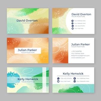 Aquarell handgezeichnete visitenkarten
