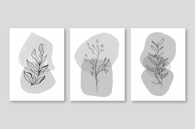 Aquarell handgezeichnetes cover pack