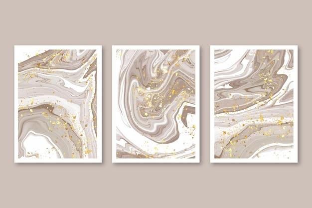 Aquarell handgezeichnetes cover-set