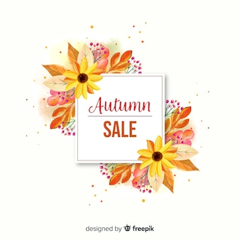 Aquarell herbst sale banner
