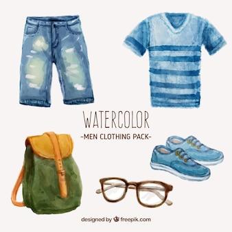 Aquarell herrenbekleidung