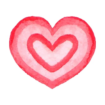 Aquarell herz. handgezeichnete abstrakte kunst. gestaltungselement für valentinstag, hochzeit, babyparty, geburtstagskarte usw. vektor-illustration.