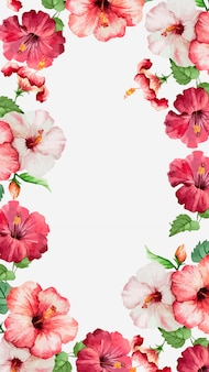 Aquarell-hibiskus-handy-wallpaper