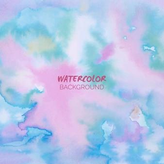 Aquarell hintergrund in rosa und blau