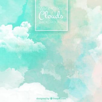 Aquarell hintergrund mit abstrakten wolken